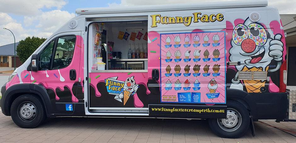 Funny Face ice cream van server side