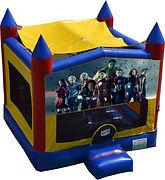 avengers bouncy castle hire thor hulk captain america superheroes bouncy castle hire perth a bonza bounce party hire
