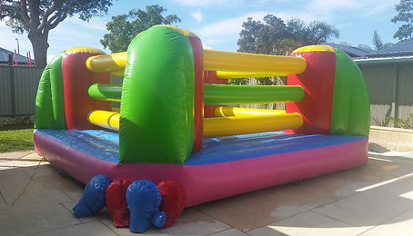 boxing ring box and bounce bouncy castle hire a bonza bounce perths best bouncy castle hire perth