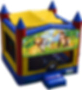 jungle family tropical bouncy castle hire perth a bonza bounce party hire