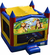 jungle family tropical bouncy castle hire perth a bonza bounce party hire