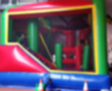 Tropical bouncy castle hire perth, perth bouncy castle hire, combo castle 5 in 1 a bonza bounce