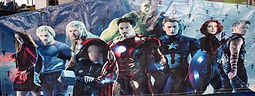 avengers bouncy castle hire perth bonza bounce hulk thor iron man captain america hire perth