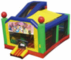 multi theme combo bouncy castle hire perth a bonza bounce disney princess