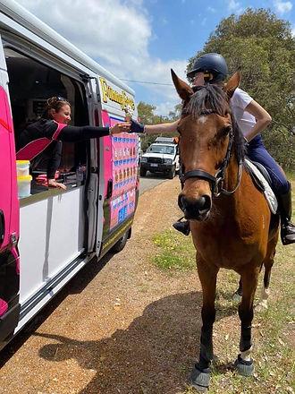 funny face ice cream perth horseback service