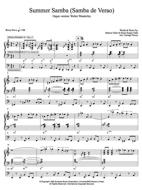 Summer Samba (Orgelversion Walter Wanderley)