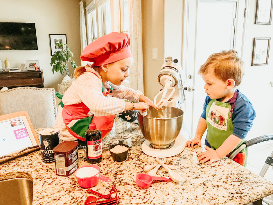 """""""Cocinarwith kids as part of our homeschool routines"""""""