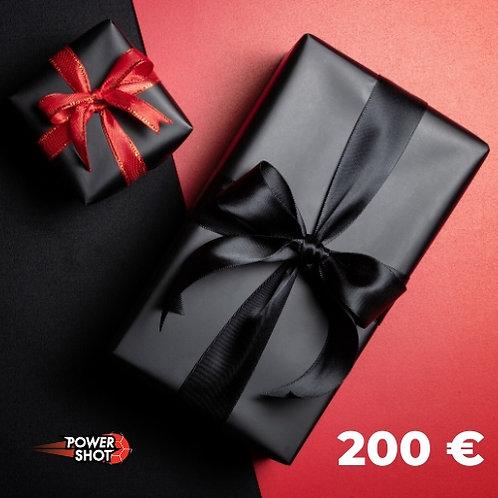 Carte prépayée - 200 €