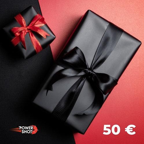 Carte prépayée - 50 €