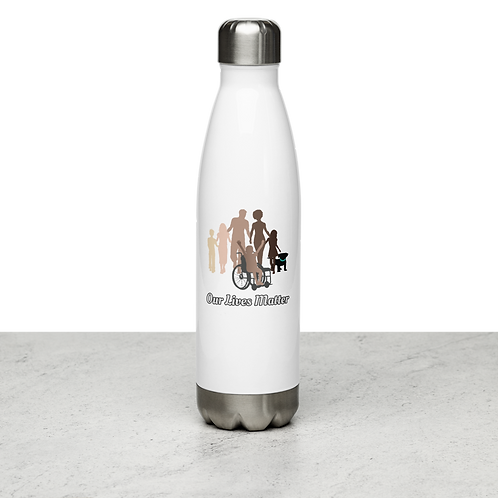 Stainless Steel Water Bottle by the OLM DEI Initiative