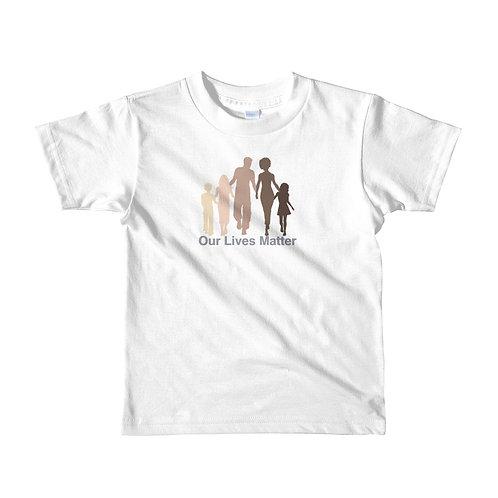 """""""Our Lives Matter"""" Short sleeve kids t-shirt"""