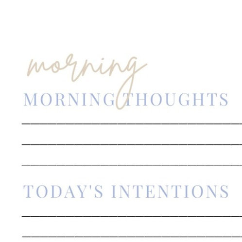 Daily Reflections Template (Design Option 1)
