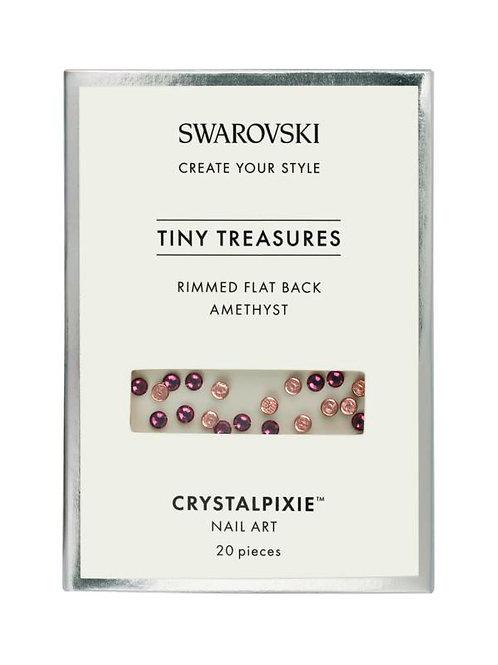Swarovski Crystalpixie Tiny Treasures Rimmed Flat Back Amethyst
