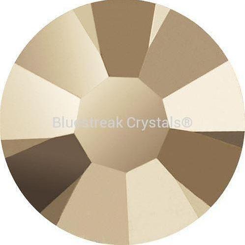 Preciosa Flatback Crystals Non Hotfix Crystal Starlight Gold