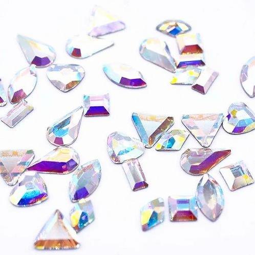 Preciosa® Crystal AB Shapes Mix of Flatback Crystals No Hotfix
