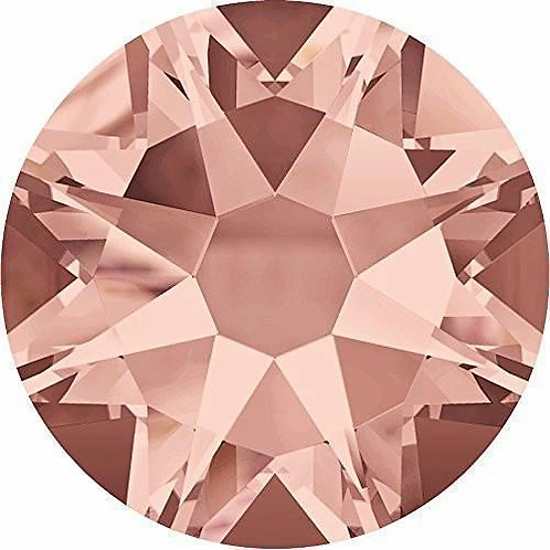 2000, 2058 & 2088 Swarovski® Flatback Crystals Non Hotfix Blush Rose