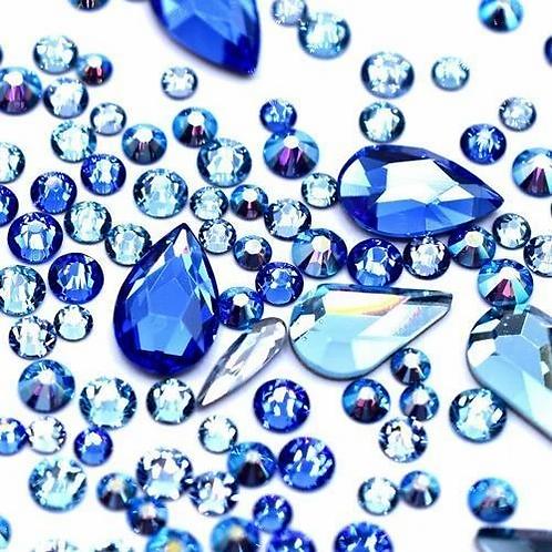 Water Mix of Swarovski® Flatback Crystals No Hotfix
