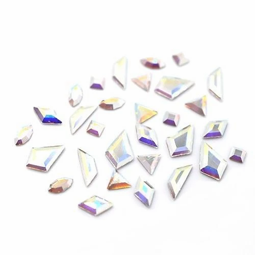 Crystal AB Mini Shapes Mix of Swarovski® Flatback Crystals No Hotfix