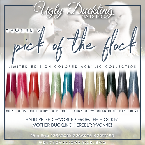 Pick of the flock- Yvonne's colored acrylic collection