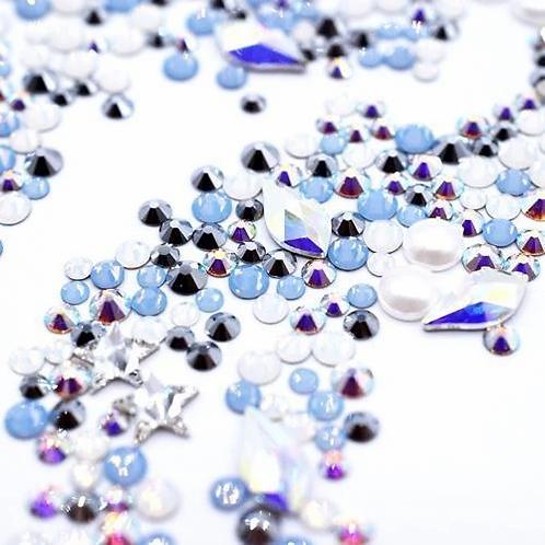 Air Mix of Swarovski® Flatback Crystals No Hotfix