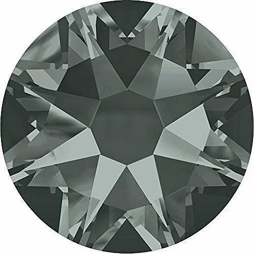 2000, 2058 & 2088 Swarovski® Flatback Crystals Non Hotfix Black Diamond