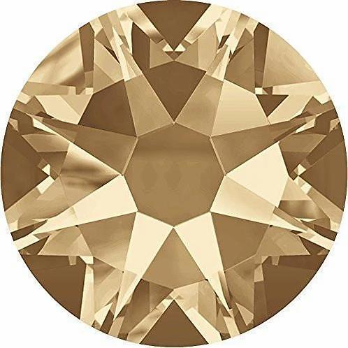 2000, 2058 & 2088 Swarovski® Flatback Crystals Non Hotfix Crystal Golden Shadow