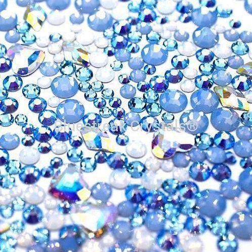 Preciosa Ice Queen Mix of Flatback Crystals Non Hotfix-Preciosa Flatback Mixes-