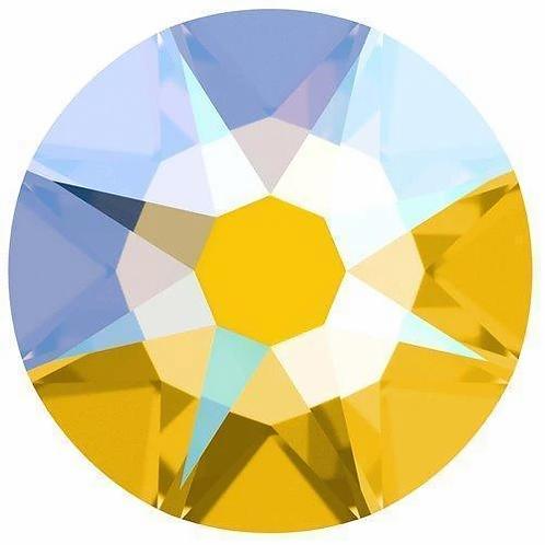 2000, 2058 & 2088 Swarovski® Flatback Crystals Non Hotfix Light Topaz Shimmer
