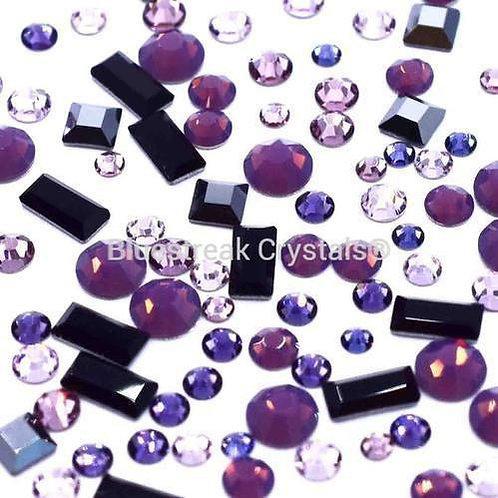 Preciosa Palma Violet Mix of Flatback Crystals Non Hotfix
