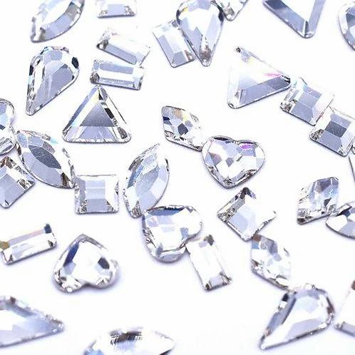Preciosa® Crystal Shapes Mix of Flatback Crystals No Hotfix