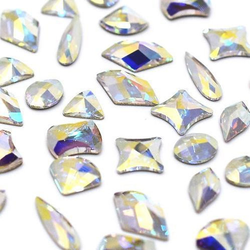 Crystal AB Shapes Mix of Swarovski® Flatback Crystals No Hotfix
