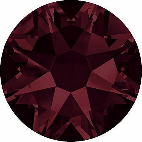 2000, 2058 & 2088 Swarovski® Flatback Crystals Non Hotfix Burgundy