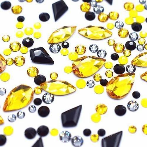 Yellow Wizard Mix of Swarovski® Flatback Crystals No Hotfix