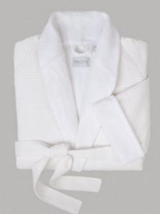 Robe de chambre gaufrée Terry Waffle robe - FRETTE