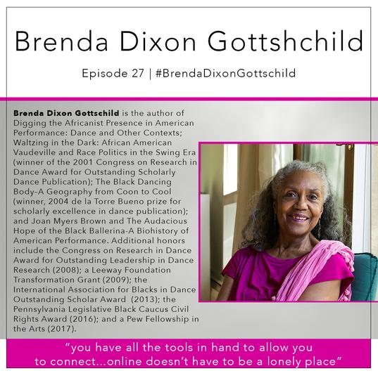 27   #BrendaDixonGottschild