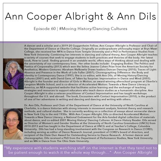 60   #MovingHistory/DancingCultures - Ann Cooper Albright & Ann Dils