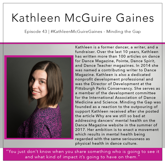 43   #KathleenMcGuireGaines - Minding the Gap 