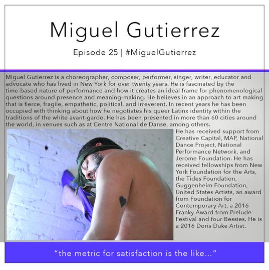25   #MiguelGutierrez