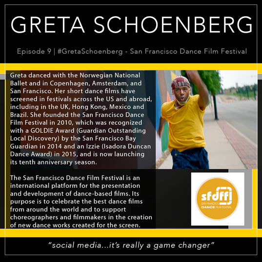 9   #GretaSchoenberg - San Francisco Dance Film Festival