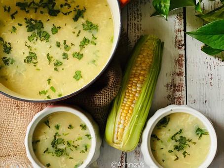 Sweet Corn 🌽 Chicken Soup