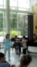 Vinci teaching master class during the Skidmore Flute Institute