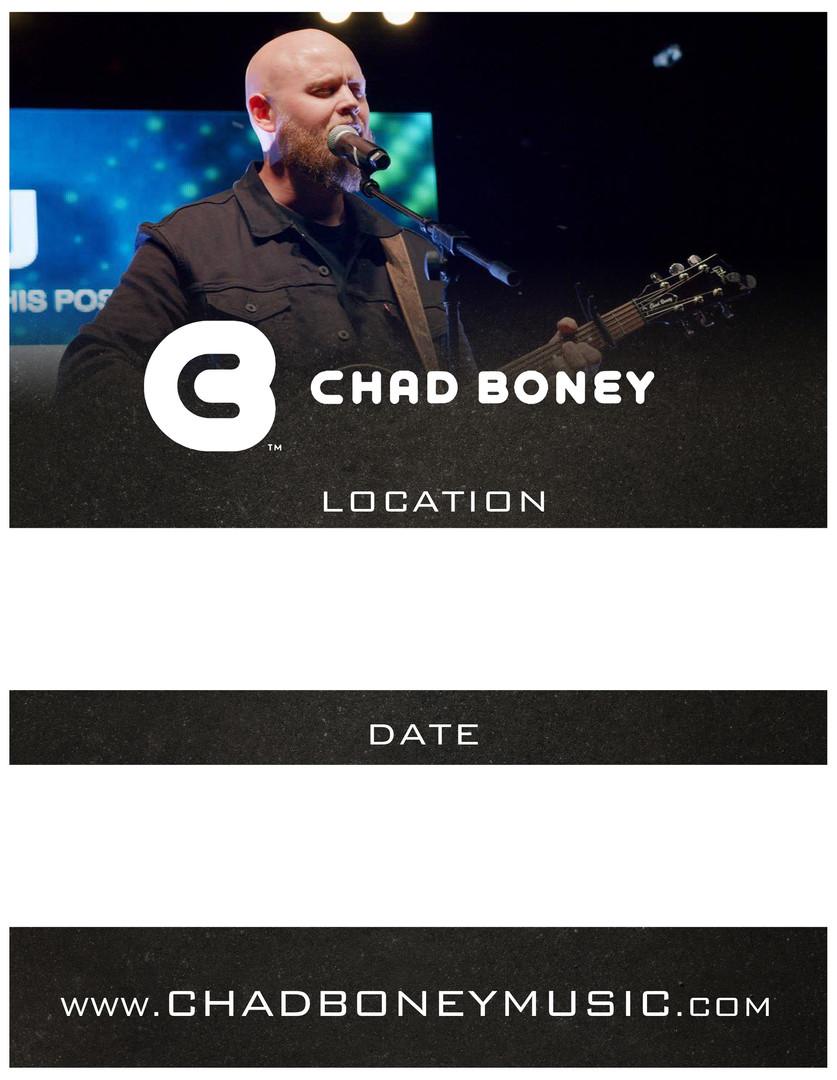 Chad Boney Music Flyer