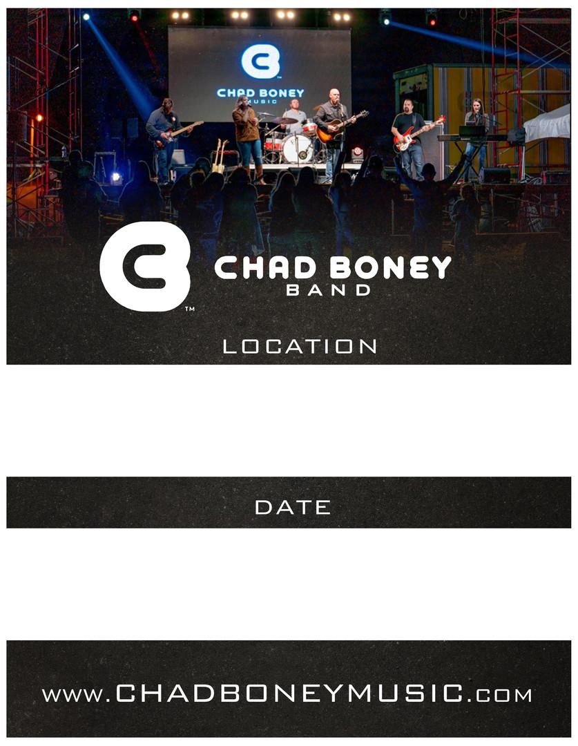 Chad Boney Band Flyer