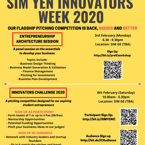Up next - SIMYEN Innovators Week 2020