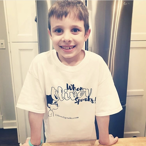 When Oliver Speaks Kid T-shirt