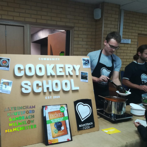 Community Cookery School making healthy food for attendees @ Khizra Masjid (CCF 2019)