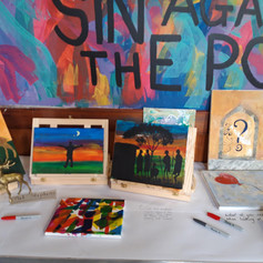 Art Class paintings @ Trinity United (CCF 2019)