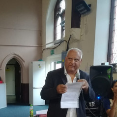 The Cheetham Poet, Sarfraz himself delivering a poem about Cheetham @ Trinity United (CCF 2019)