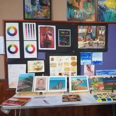 Local artist paintings @ Trinity United Church (CCF 2019)