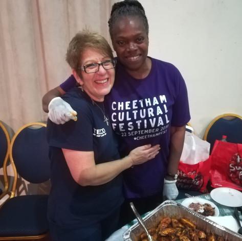 Poppy & Sharon enjoying the Food Festival! @ The Ukrainian Centre (CCF 2019)